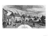 The Mining Village, Illustration from Germinal by Emile Zola Giclee Print by Jules Ferat