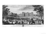 Walking in the Luxembourg Gardens, 1729 Giclee Print by Jacques Rigaud