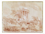 Temple of the Sybil at Tivoli Giclée-Druck von Jean-Honoré Fragonard
