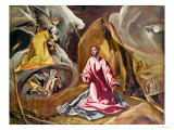 Agony in the Garden of Gethsemane, c.1590 Giclee Print by  El Greco