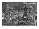 Forge of the Derosne and Cail Company, Grenelle, Les Grandes Usines Turgan, Engraved Linton Giclee Print by Edmond Morin