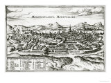 Map of Montpellier, from Civitates Orbis Terrarum by Georg Braun Giclee Print by Joris Hoefnagel