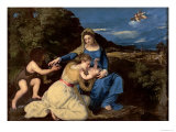 The Virgin and Child with Saints, 1532 Gicle-tryk af Titian (Tiziano Vecelli)