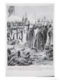 Isaac of Cyprus Pleads Before Richard, 1191, Illustration from The History of the Nation Giclee Print by Richard Caton Woodville