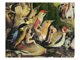 The Garden of Earthly Delights, c.1500 Giclée-vedos tekijänä Hieronymus Bosch