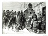 Reservation Indians Receving Rations from Government Agents Giclee Print by Paul Frenzeny