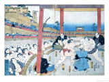 Traditional Wrestling in Japan: Sumo Wrestlers Giclee Print