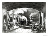King Louis-Philippe of France Departing from New Cross Station, Deptford, 1844 Giclee Print by Edouard Pingret