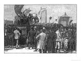 The Chartist Demonstration on Kennington Common, 10th April 1848, 1886 Giclee Print by William Barnes Wollen