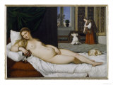 Venus of Urbino, Before 1538 Gicle-tryk af Titian (Tiziano Vecelli)