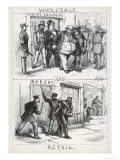 Wholesale and Retail, from Harper's Weekly, 16th September 1871 Giclee Print by Thomas Nast