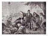 Christopher Columbus Predicting the Eclipse of the Moon to the Inhabitants of Jamaica in 1504 Giclee Print