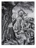 Malachy Felling the Munster Coronation Tree in 982, from the Book The History of the Nation Giclee Print by Richard Caton Woodville