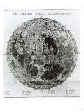 Surface of the Moon, Selenotopographische Fragmente by Schroeter, c.1791 Giclee Print