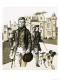 Sir Walter Scott Walking with Tom Purdie Giclee Print