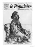 Death of Jules Guesde, Cover Illustration from Le Populaire, Paris, 29th July 1922 Giclee Print by Charles Leandre