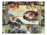 Sistine Chapel Ceiling, Creation of Adam, 1510 Giclee Print by  Michelangelo Buonarroti