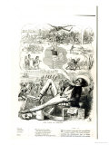 The Land of Liberty, Cartoon from Punch Magazine, 1847 Giclee Print by Richard Doyle