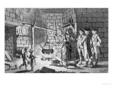 Dr. Samuel Johnson's Introduction to a Highland Hut, The Life of Johnson by James Boswell, 1775 Giclee Print by  English School