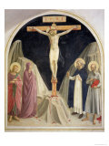 The Crucifixion, with SS Dominic and Jerome, 1442 Giclee Print by  Fra Angelico