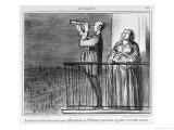 Series Actualites, the Comet, Parisiens Incredules, Plate 394, Le Charivari, 1st May 1857 Giclee Print by Honore Daumier
