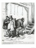 The Only Thing They Respect of Fear, from Harper's Weekly, 21st October 1871 Giclee Print by Thomas Nast