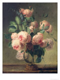 Vase of Flowers Giclee Print by Pierre-Joseph Redouté