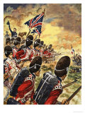 The Wonderful Story of Britain: The Battle of Waterloo Giclee Print by Peter Jackson