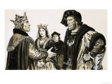 The Earl of Warwick Meets Henry VI Giclee Print by Ken Petts