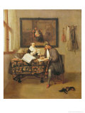 The Studious Life, 1662 Reproduction proc&#233;d&#233; gicl&#233;e par Gerritsz. Quiryn Van Brekelenkam