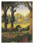 The Ploughman Homeward Plods His Weary Way, and Leaves the World to Darkness and to Me Giclee Print by Ronald Lampitt