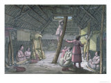 House in Unalaska, Le Costume Ancien ou Moderne, c.1820 Giclee Print by Gallo Gallina