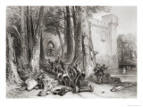 The Siege of Lathom House, 1644, Engraved by W. Topham Giclee Print by George Cattermole