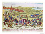 The Duke of Alba, Recalled to Spain, Leaving Brussels, 1573 Giclee Print by Franz Hogenberg