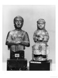 Woman with the Shawl, Woman Holding an Aryballos, Neo-Sumerian, Telloh, Ancient Girsu, c.2150 BC Giclee Print by Mesopotamian