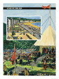 Isle of Man and the Town of Douglas Giclee Print by Harry Green