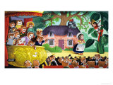 Jack and the Beanstalk Being Watched by Teddy Bears Giclee Print