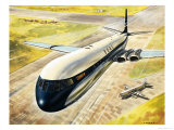 Boac's Comet 4 Passenger Aircraft Giclee Print by Roy Cross