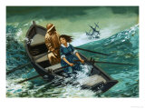 Women of Courage: The Rowboat Rescue. Grace Darling Giclee Print by Peter Jackson