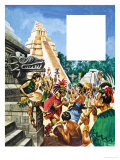 The History of Our Wonderful World: Mayan Cities Giclee Print by Peter Jackson