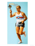 The Olympic Games: Carrying the Olympic Torch Giclee Print
