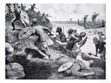 King Caedwalla Attacks the Isle of Wight Giclee Print by Ernest Prater