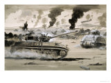 The Defeat of the Afrika Corps at El Alamein Giclee Print