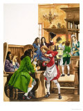 The Wonderful Story of Britain: The Wonderful Coffee-Houses Giclee Print by Peter Jackson
