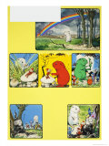 Gulliver Guinea-Pig and the Rainbow Folk Giclee Print by Gordon Hutchings
