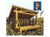 The Massive Gallows Built on Judge Parker's Orders Which Could Have 12 Men at a Time Giclee Print by Harry Green