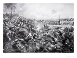 The German Attack at Mons, Illustration from The History of the Nation Giclee Print by William Spencer Bagdatopoulus