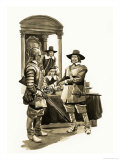The Wonderful Story of Britain: Oliver Cromwell Giclee Print by Peter Jackson