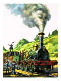 Steam Train. Celebrating the Opening of Part of the Great Western Railway Giclee Print by Harry Green