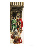 The Wonderful Story of Britain: King Charles the First. Tax Collectors Giclee Print by Peter Jackson